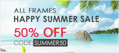 happy spring sale all frames 50% off