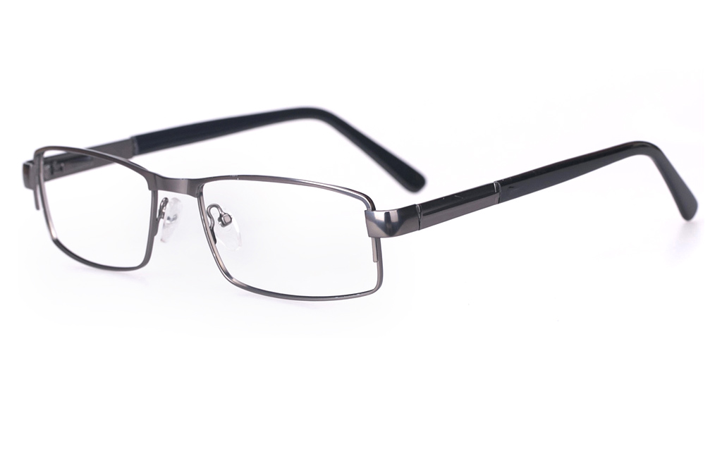 Poesia 6048 Stainless Steel Mens Full Rim Optical Glasses