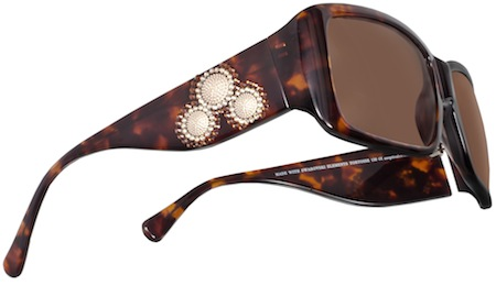 52d9c72a9c JCS170 radiates with three textured metal spheres encircled by two-toned  rays of glistening crystals. The square shaped frame is available in  tortoise (with ...