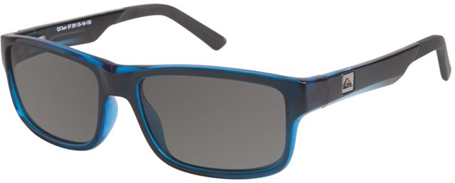 40a811a939 The Quiksilver logo block is embedded on the upper temple. The shiny black  frame features a translucent blue undertone. The black frame is more  understated ...