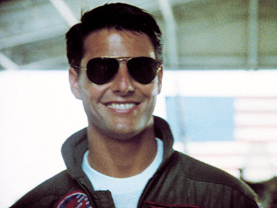 Tom Cruise wears Ray-Ban Avaitor Sunglasses in Top Gun