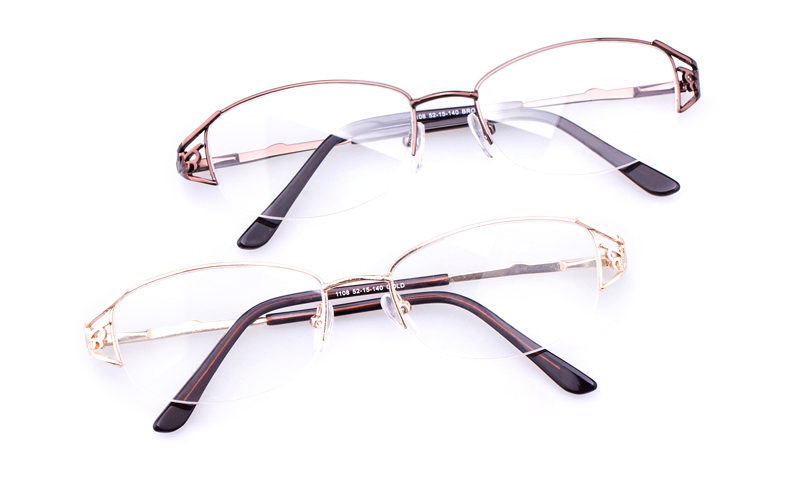 b6cb845062 Vista First Stainless Steel Womens Oval Semi-rimless Optical Glasses
