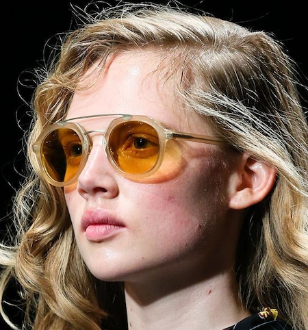 24891cf18034 Prada Mens Sunglasses for Spring Summer 2014: Quick Peek: Retro and round  shapes, with unique double bar details. Neutral colors with brownish- ochre  tinted ...