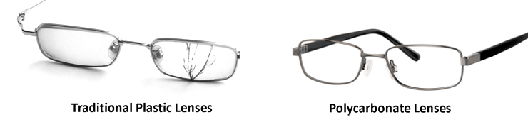 181f245f90 Polycarbonate lenses also are lighter and thinner than basic plastic lenses