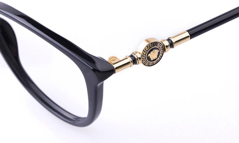 Versace Acetate Womens Cat eye Full Rim Optical Glasses