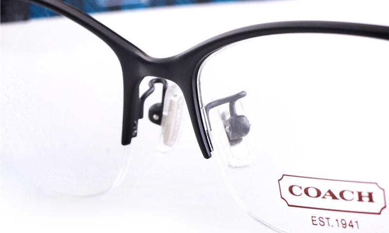 717904c7f6 Coach HC5038 Acetate Womens Cat eye Semi-rimless Optical Glasses(Black)