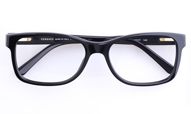 Versace VE3173 Acetate Mens Oval Full Rim Optical Glasses(Black)