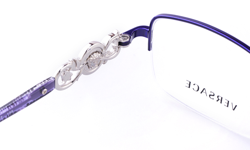 dba8240c67f9b Versace Stainless steel Womens Square Full Rim Optical Glasses