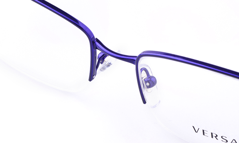 be147ad72304e Versace VE1199 Stainless steel Womens Square Full Rim Optical Glasses(Purple )