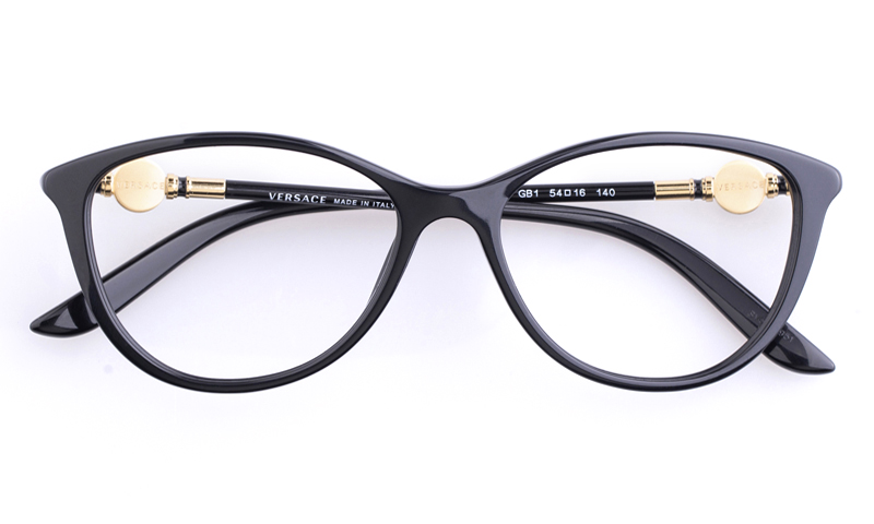 Versace Acetate Womens Cat eye Full Rim Optical Glasses