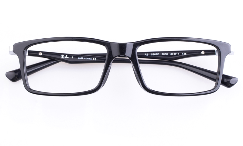d7c740e2f5 Ray-Ban RB5269 Acetate Mens Square Full Rim Optical Glasses(Black(2000))