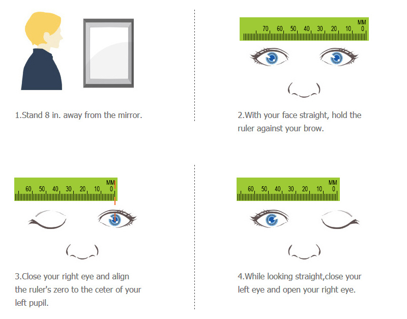 408a7ec18ee How To measure pupillary distance(PD)by yourself. - finestglasses.com