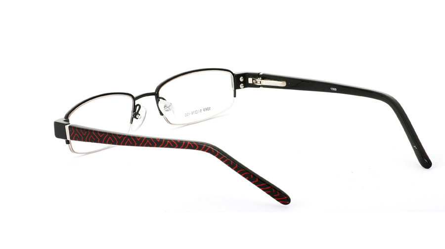 Vista First 1069 Stainless Steel/ZYL Half Rim Mens Optical Glasses