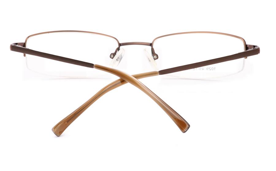 Vista First 1029 Stainless Steel/ZYL Half Rim Mens Optical Glasses