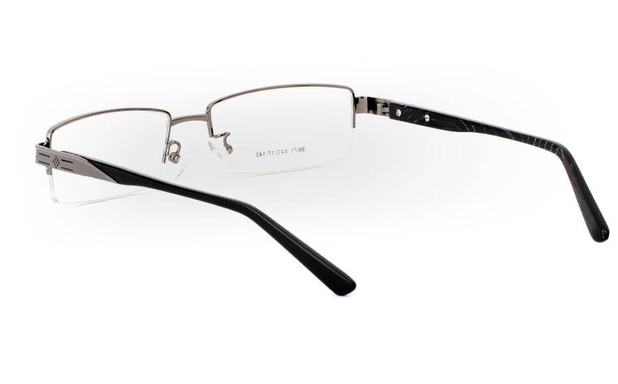 9871 Monel Half Rim Mens Optical Glasses