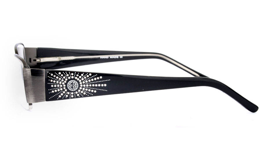 CR3457 Stainless Steel/ZYL Half Rim Womens Optical Glasses