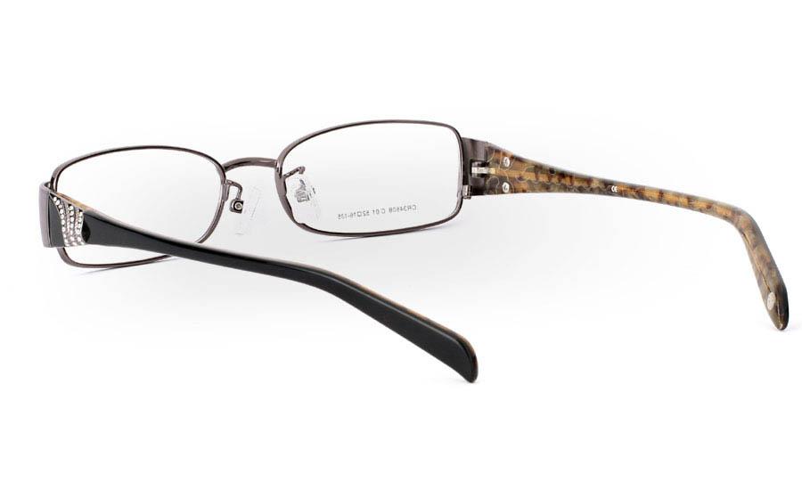 CR3460 Stainless Steel/ZYL Full Rim Womens Optical Glasses