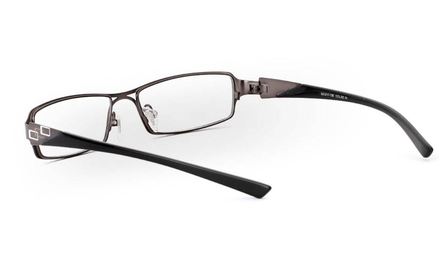 E1013 Stainless Steel Half Rim Mens Optical Glasses