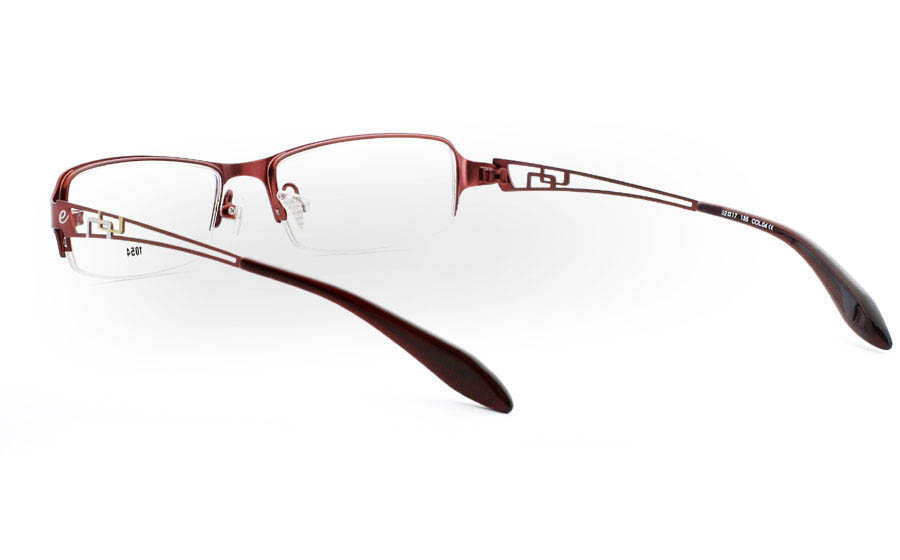 E1054 Stainless Steel Mens&Womens Half Rim Optical Glasses