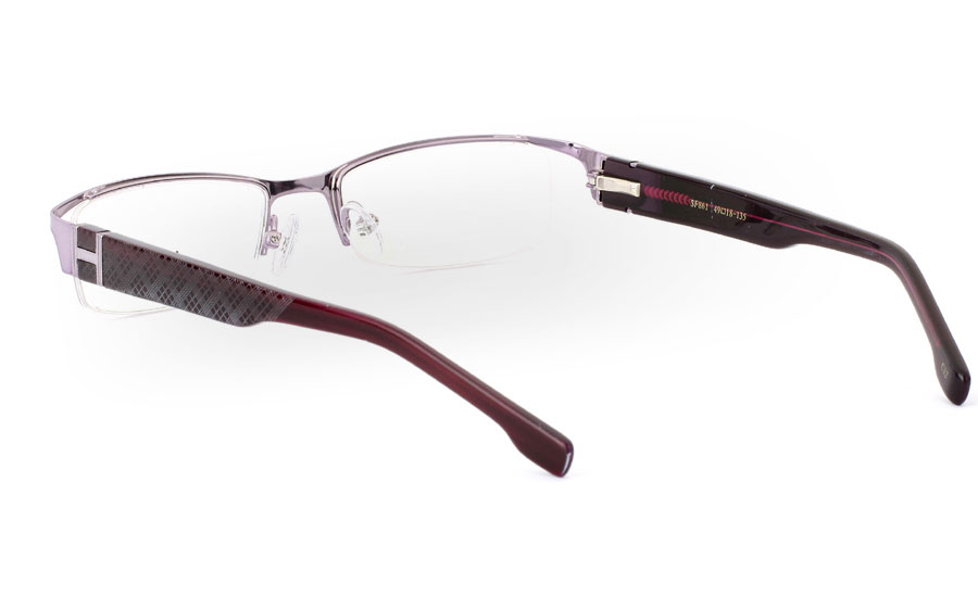 SF861 Stainless Steel/ZYL Mens&Womens Half Rim Optical Glasses