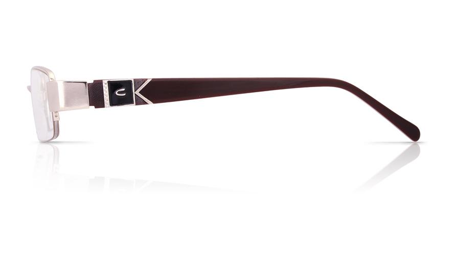 Vista First 1065 Stainless Steel/ZYL Half Rim Mens Optical Glasses