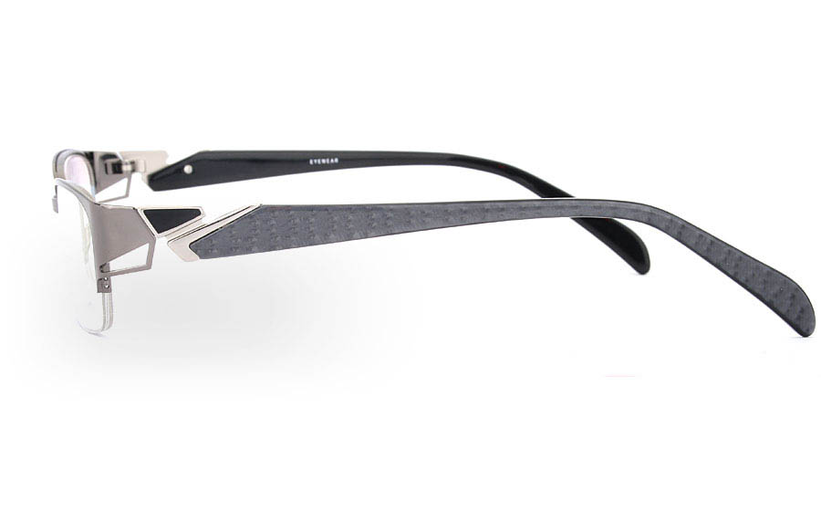 OD-039 Stainless Steel/ZYL Mens&Womens Half Rim Optical Glasses