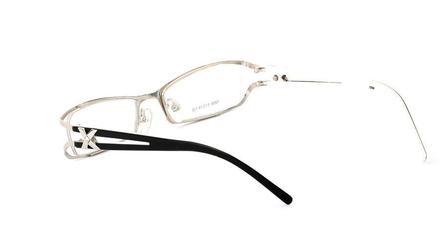 Vista First 1058 Stainless Steel/ZYL Half Rim Womens Optical Glasses