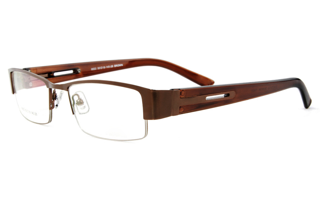 17dc610c31 ... Poesia 6622 Stainless Steel Mens Womens Semi-rimless Optical Glasses ...