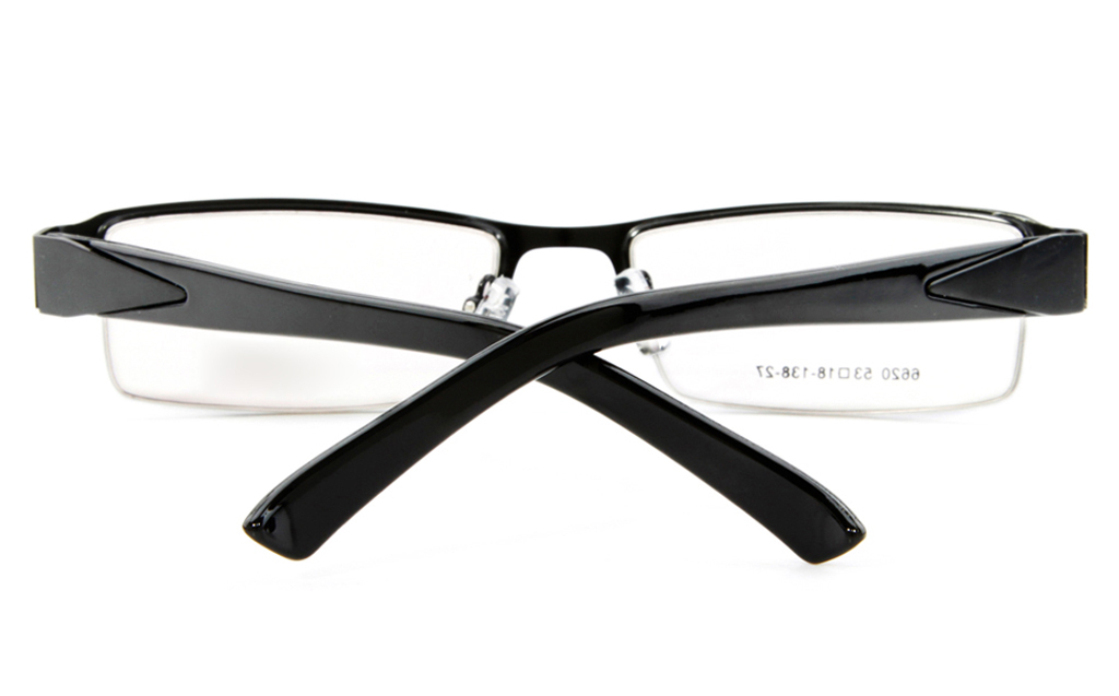 Poesia 6620 Stainless Steel Mens&Womens Semi-rimless Optical Glasses