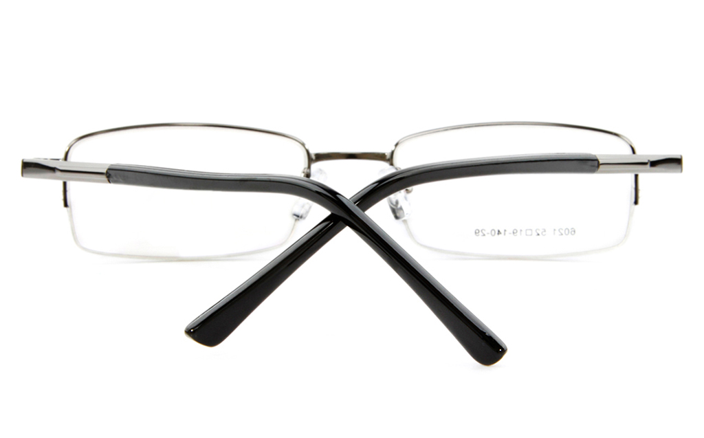 Poesia 6021 Stainless Steel Mens&Womens Semi-rimless Optical Glasses