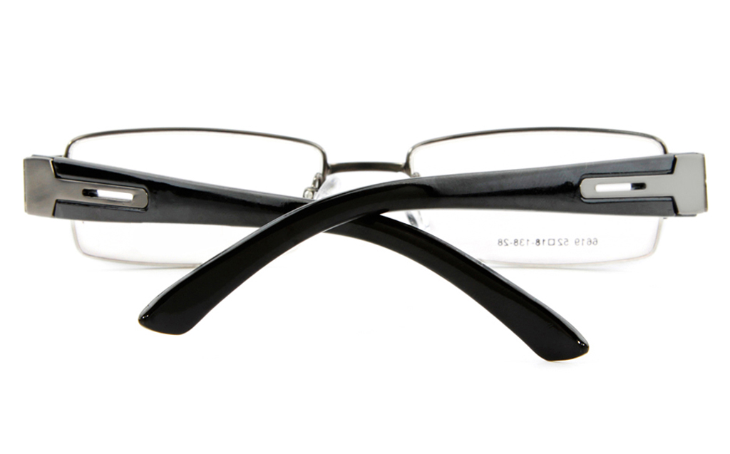 Poesia 6619 Stainless Steel Mens&Womens Semi-rimless Optical Glasses