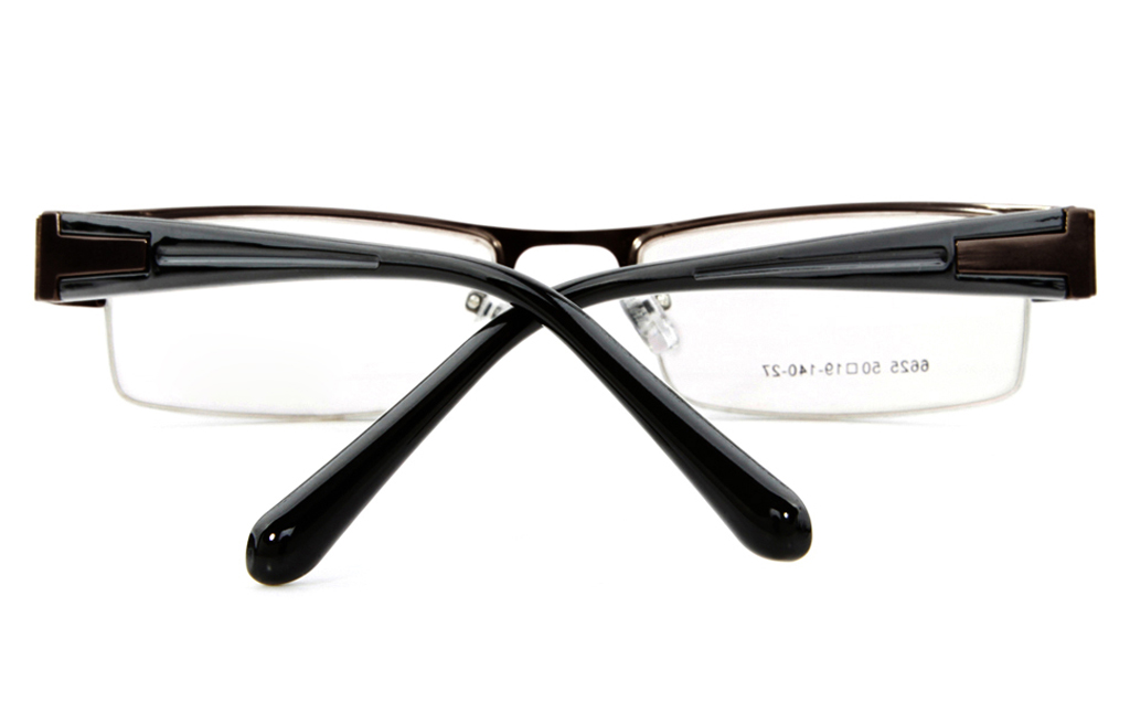 Poesia 6625 Stainless Steel Mens&Womens Semi-rimless Optical Glasses