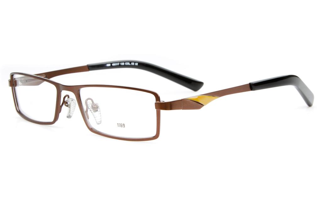 E1169 Stainless Steel Mens&Womens Full Rim Square Optical Glasses
