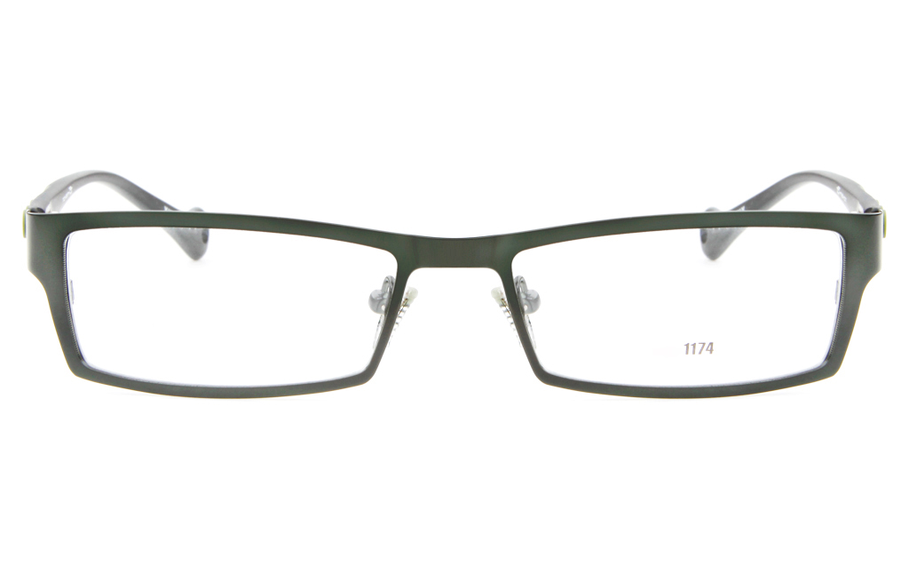 E1174 Stainless Steel/ZYL Mens&Womens Full Rim Square Optical Glasses
