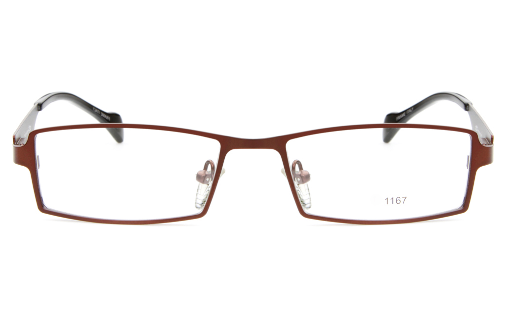 E1167 Stainless Steel Mens&Womens Full Rim Square Optical Glasses