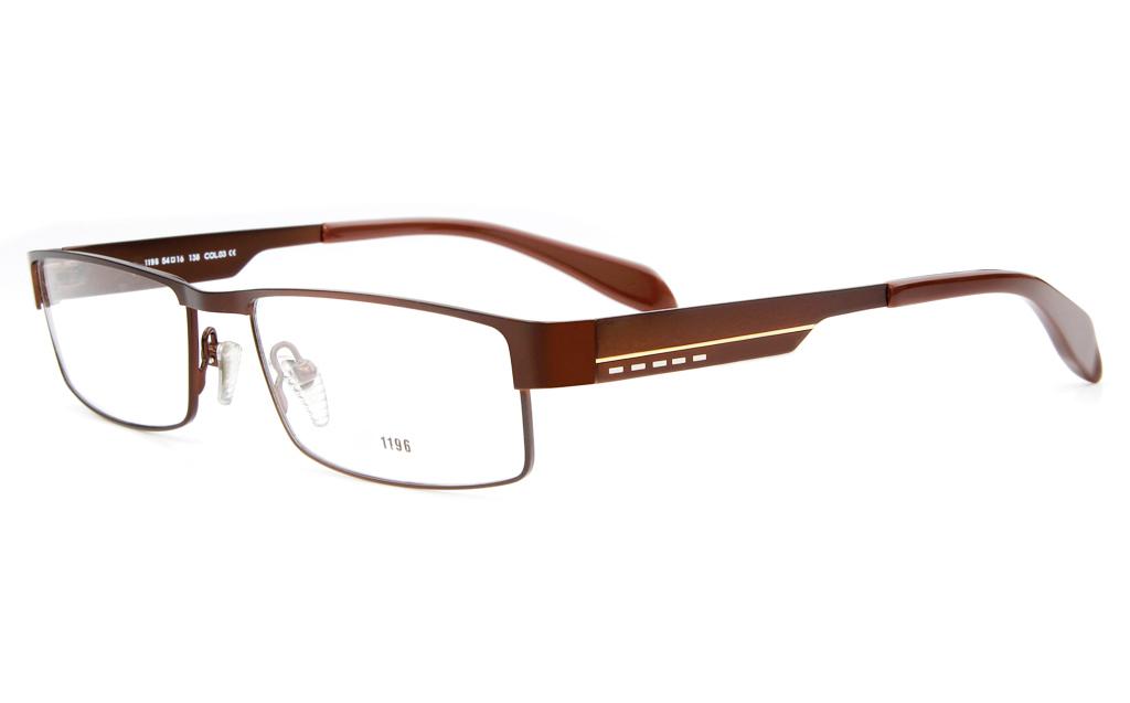 E1196 Stainless Steel Mens Full Rim Square Optical Glasses