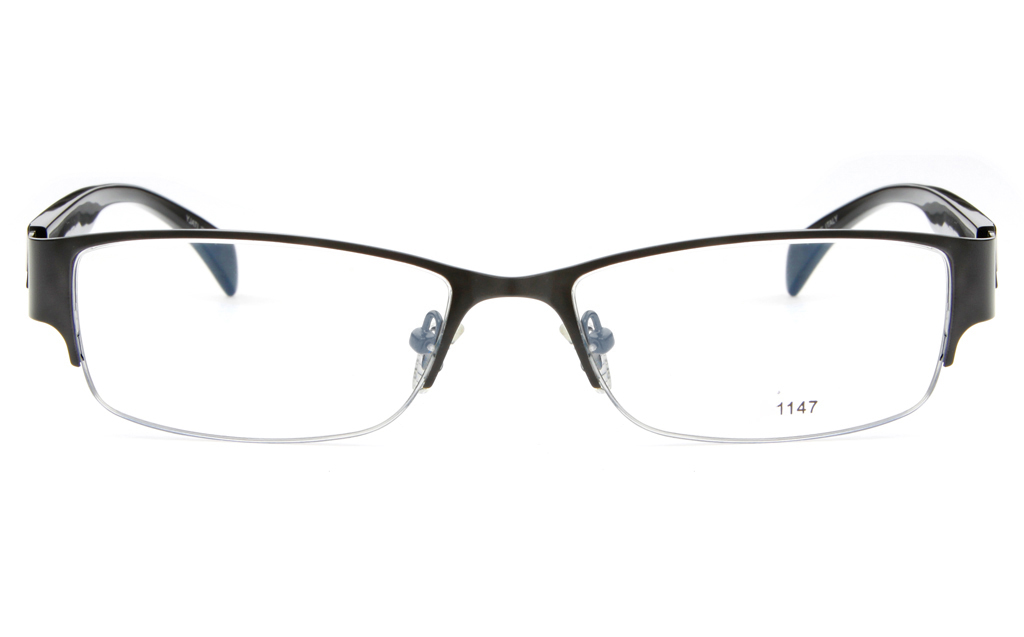 Stainless Steel/ZYL Mens Semi-rimless Square Optical Glasses