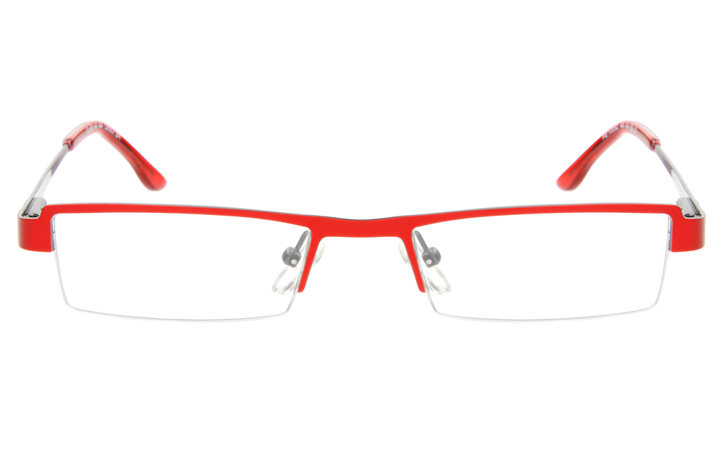 10052 Stainless Steel Womens Semi-rimless Square Optical Glasses