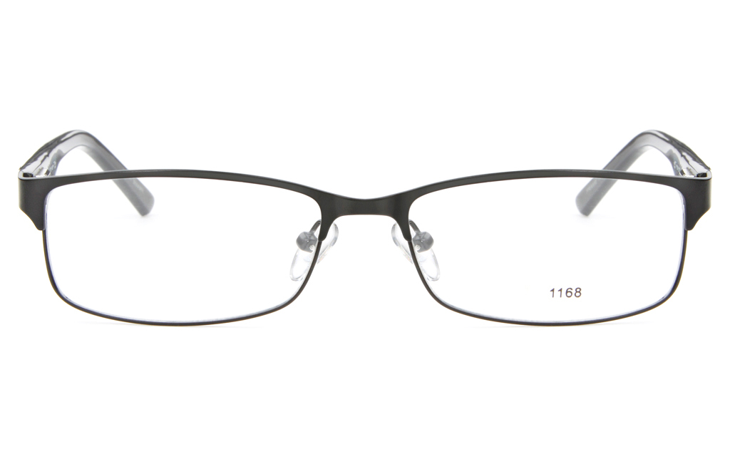 E1168 Stainless Steel/ZYL Mens&Womens Full Rim Square Optical Glasses