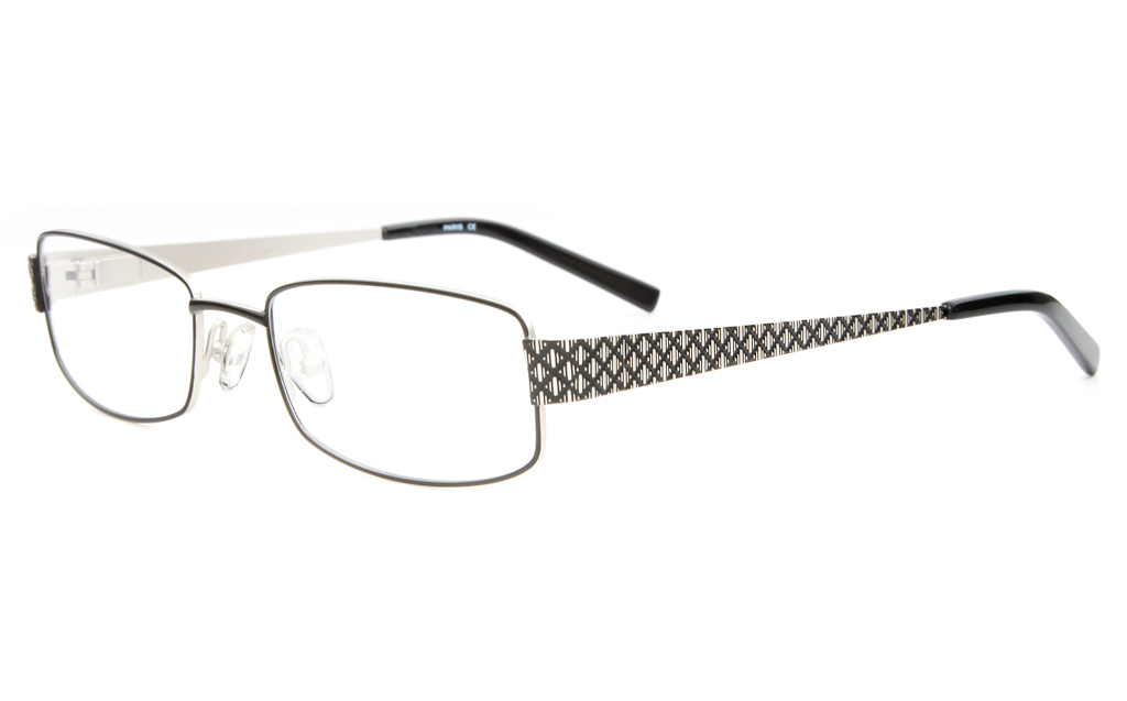 SJ037 Stainless Steel Womens Full Rim Square Optical Glasses