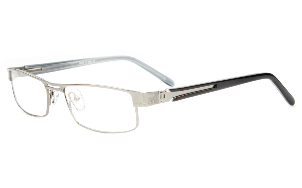 P8496 Stainless Steel/ZYL Mens&Womens Semi-rimless Square Optical Glasses
