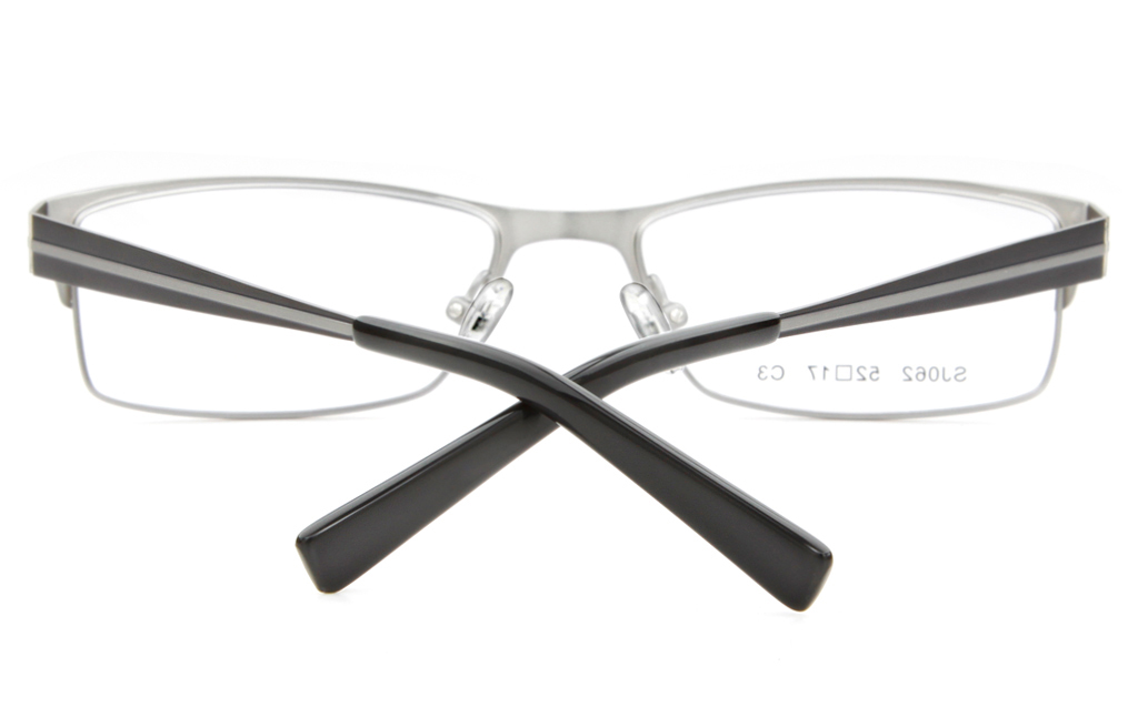 SJ062 Stainless Steel Mens&Womens Full Rim Square Optical Glasses