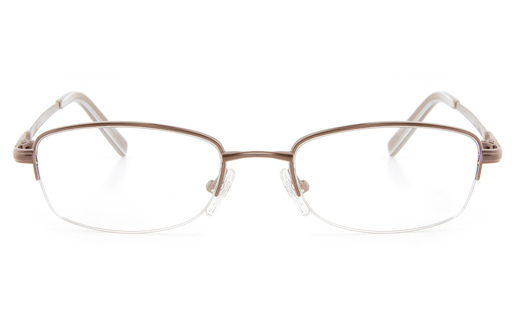 Vista First 2119 Titanium Memory Mens&Womens Semi-rimless Oval Optical Glasses