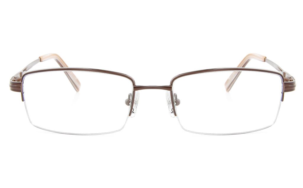 Vista First 2113 Titanium Memory Mens Semi-rimless Square Optical Glasses
