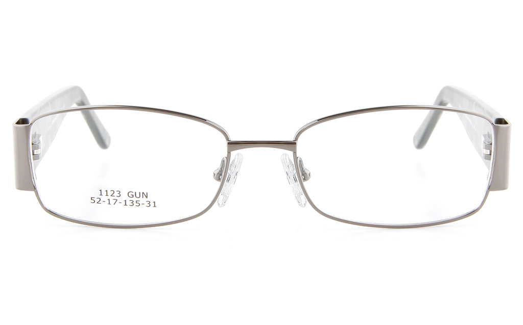 Vista First 1123 Stainless Steel/ZYL  Mens&Womens Full Rim Optical Glasses - Oval Frame