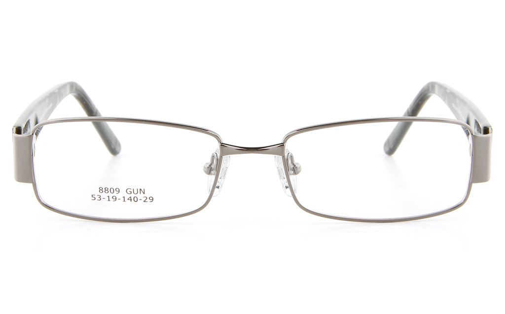 Vista First 8809 Stainless Steel/ZYL  Mens Full Rim Optical Glasses - Square Frame