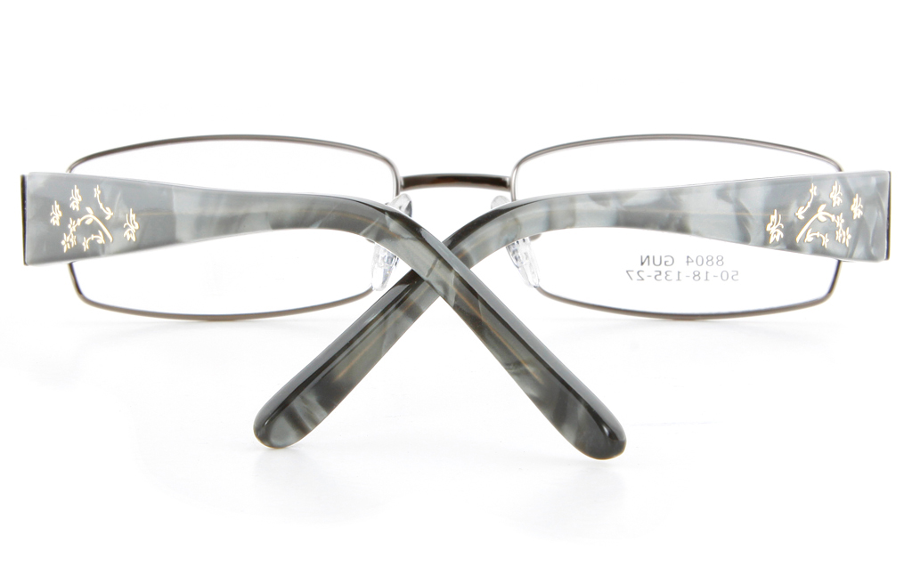 Vista First 8804 Stainless Steel/ZYL  Womens Full Rim Optical Glasses - Oval Frame