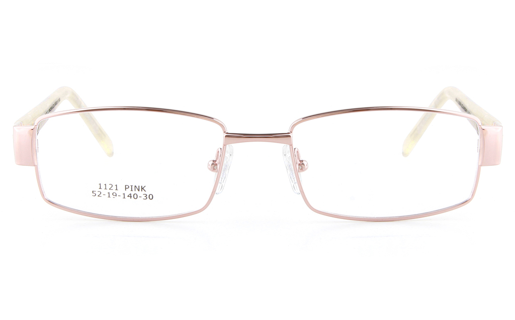 Vista First 1121 Stainless Steel/ZYL  Womens Full Rim Optical Glasses - Square Frame