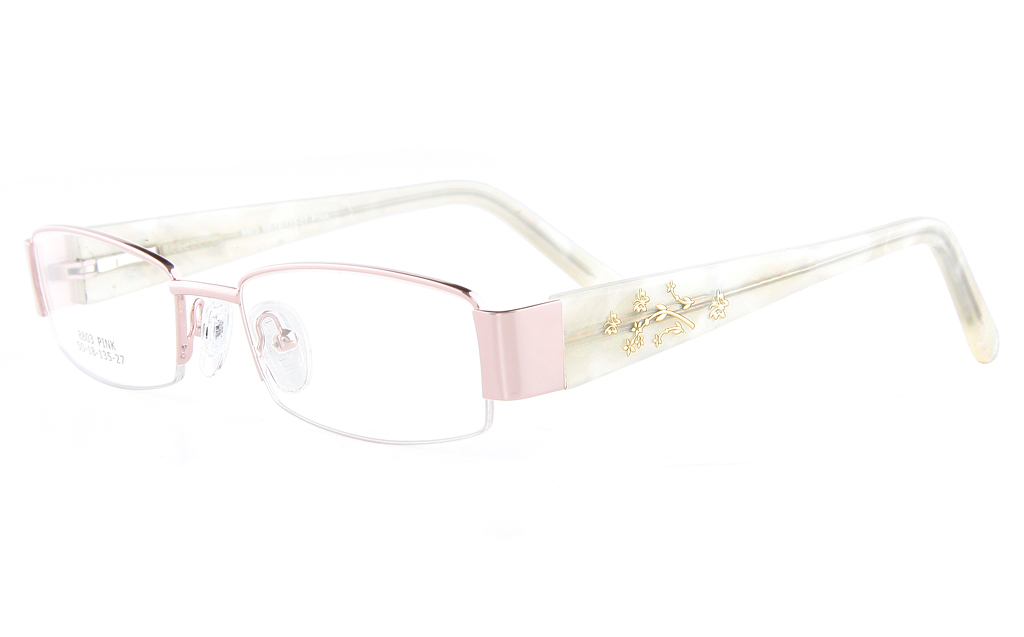 Vista First 8803 Stainless Steel/ZYL  Womens Semi-rimless Optical Glasses - Oval Frame