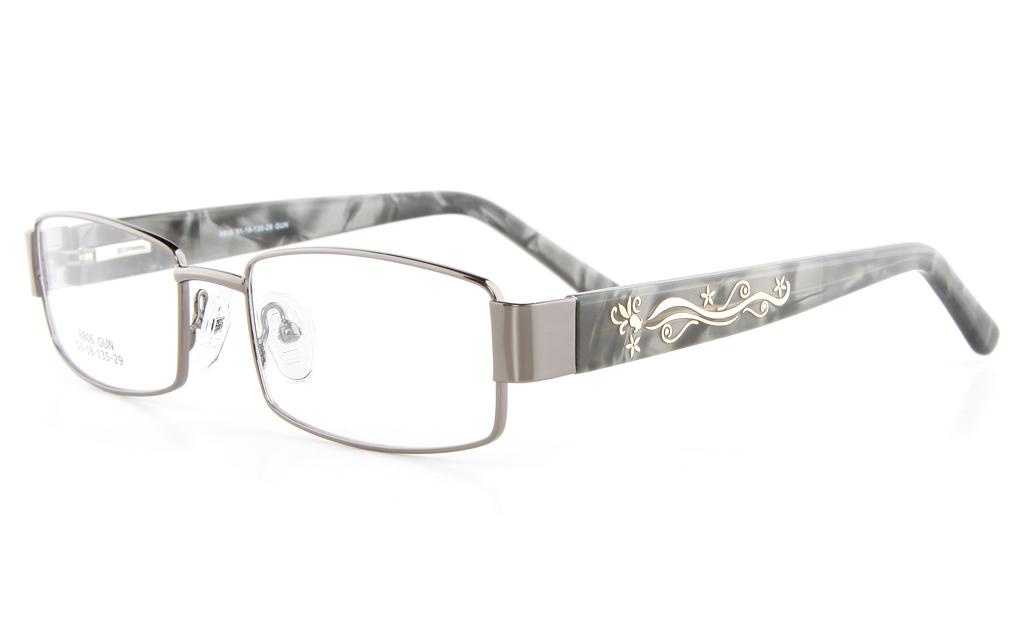 Vista First 8806 Stainless Steel/ZYL  Womens Full Rim Optical Glasses - Oval Frame